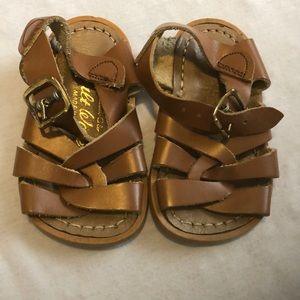Saltwater Sandals Brown Infant Sandals, Size 3